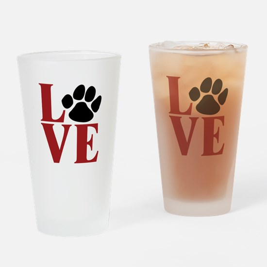 Love Paw Drinking Glass