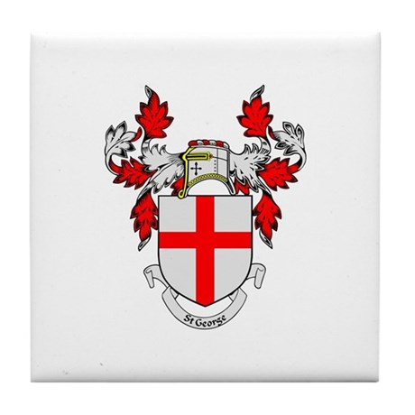 ST GEORGE 1 Coat of Arms Tile Coaster