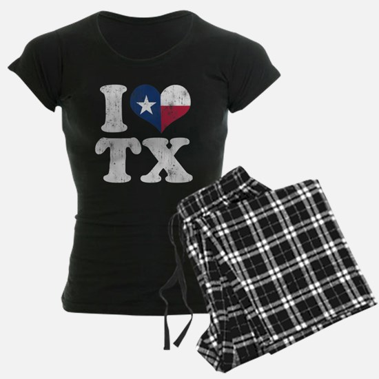 I heart Texas Flag TX Pajamas