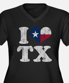 I heart Texas Flag TX Plus Size T-Shirt