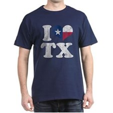 I heart Texas Flag TX T-Shirt