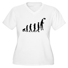 Volleyball Spike Evolution Plus Size T-Shirt
