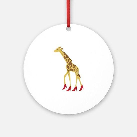 Heeled Giraffe Ornament (Round)