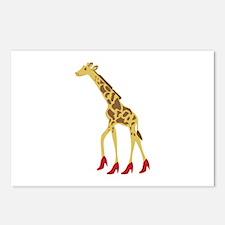 Heeled Giraffe Postcards (Package of 8)