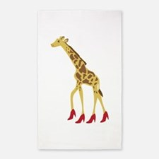 Heeled Giraffe 3'x5' Area Rug