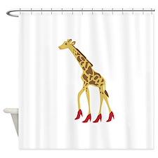 Heeled Giraffe Shower Curtain