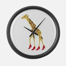 Heeled Giraffe Large Wall Clock