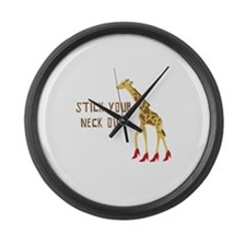 Stick Your Neck Out Large Wall Clock
