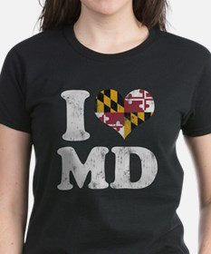 I heart Maryland Flag MD T-Shirt