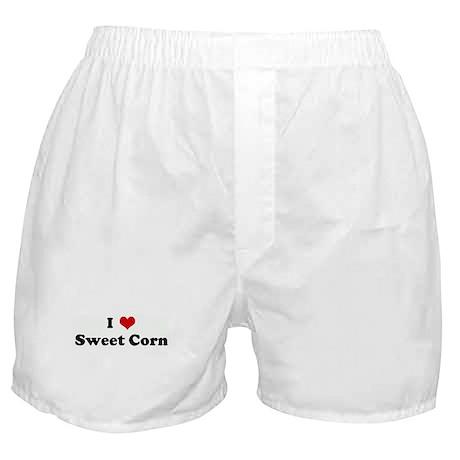 I Love Sweet Corn Boxer Shorts