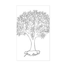Give Thanks Tree Decal