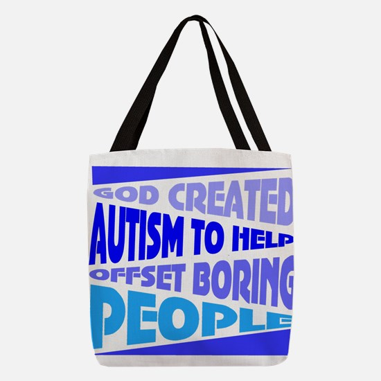 Funny autism Polyester Tote Bag