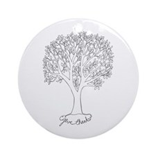 Give Thanks Tree Ornament (round)