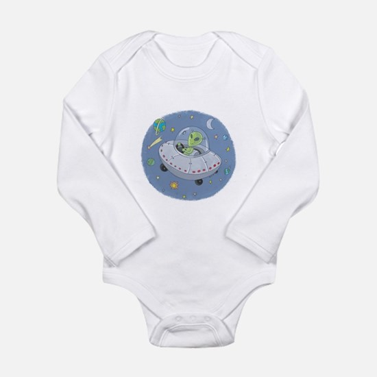 Little Green Alien Infant Creeper Body Suit