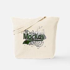 MacKay Tartan Grunge Tote Bag