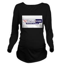 NJTravel.jpg Long Sleeve Maternity T-Shirt