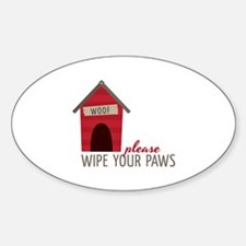 Wipe Your Paws Decal
