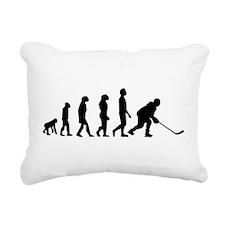 Hockey Evolution Rectangular Canvas Pillow