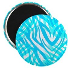 Blue Zebra Abstract Magnets