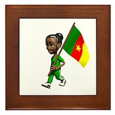 Cameroon Girl Framed Tile
