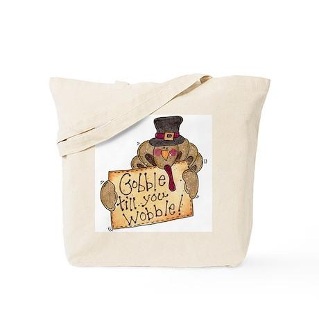 Gobble Wobble Turkey Tote Bag