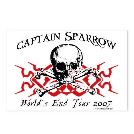 Captain Sparrow Tour Postcards (Package of 8)
