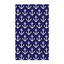Anchor Nautical Navy Blue 3'x5' Area Rug