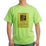 Warning to Moochers Green T-Shirt