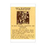 Warning to Moochers Mini Poster Print