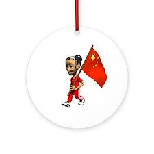 China Girl Ornament (Round)