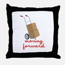 Moving Forward Throw Pillow