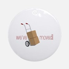 Weve Moved! Ornament (Round)