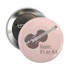 Violin It's An Art Pink Brown Button