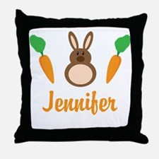 Easter Bunny Personalized Holiday Throw Pillow