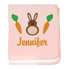 Easter Bunny Personalized Holiday baby blanket