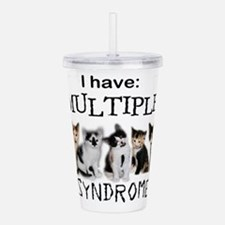 Multiple Cat Syndrome Acrylic Double-wall Tumbler