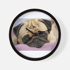 Cute Pug or pugs Wall Clock
