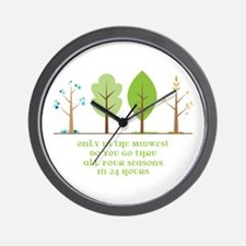 In The Midwest Wall Clock