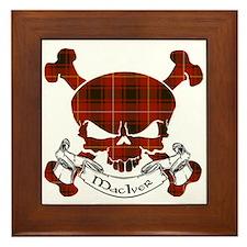 MacIver Tartan Skull Framed Tile