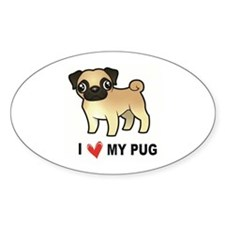 I Love My Pug Decal