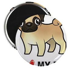 I Love My Pug Magnets