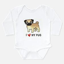I Love My Pug Body Suit