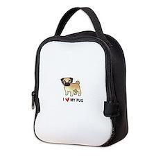 Cute Pug Neoprene Lunch Bag