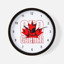 Maple Leaf Geocacher Wall Clock