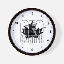 Gray Leaf Geocacher Wall Clock