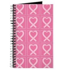 breast cancer pink heart Journal