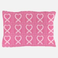 breast cancer pink heart Pillow Case
