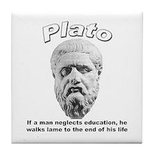 Plato 01 Tile Coaster