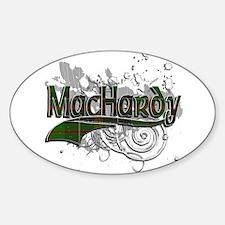 MacHardy Tartan Grunge Sticker (Oval)