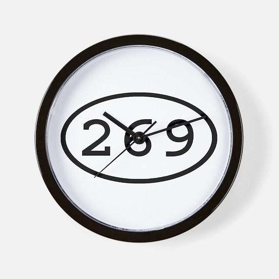 269 Oval Wall Clock